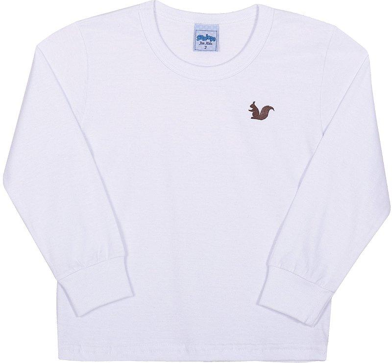 Camiseta Basica Infantil  Branco - Serelepe Kids