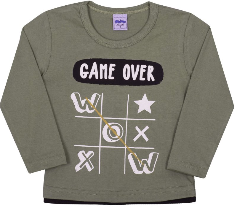 Camsieta Avulsa infantil Game Over Cactus - Serelepe Kids