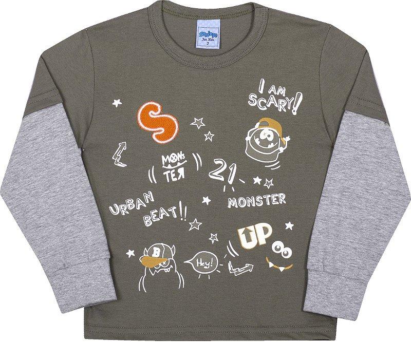 Camiseta Avulsa Infantil Monster Cactus - Serelepe Kids