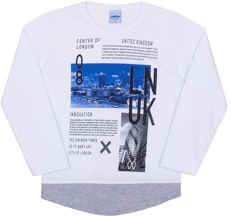 Camiseta Avulsa Infantil LNUK Branco - Serelepe Kids