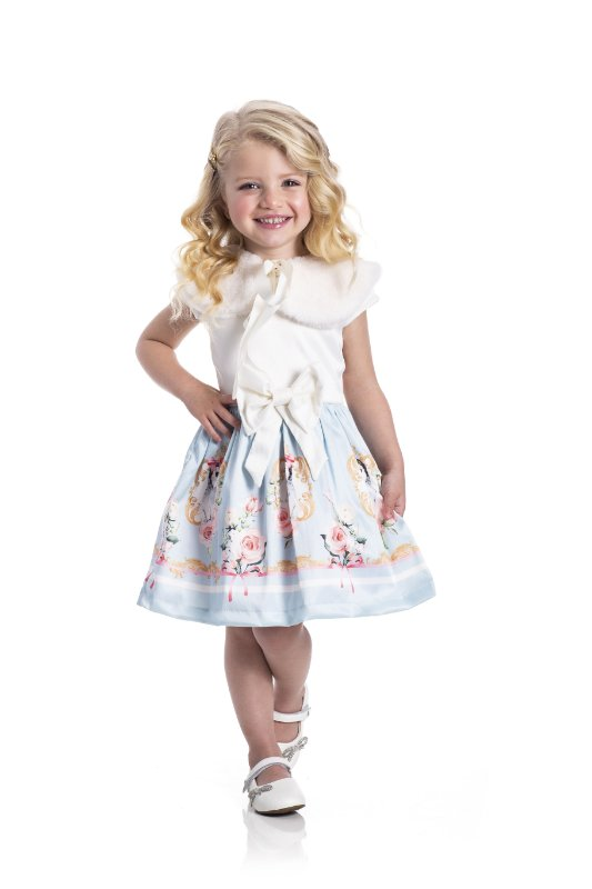 Vestido em Cotton Cetim Pinguim Off White - Miss Lepe