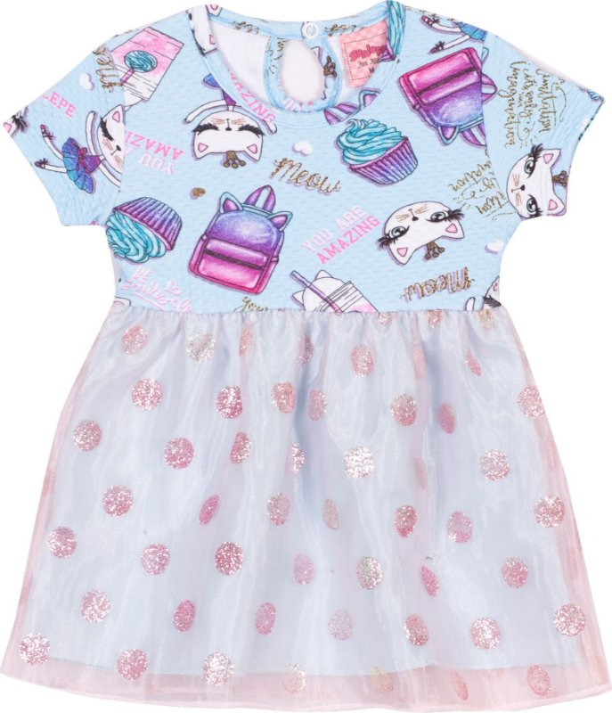 Vestido Cats Piscina - Serelepe Kids