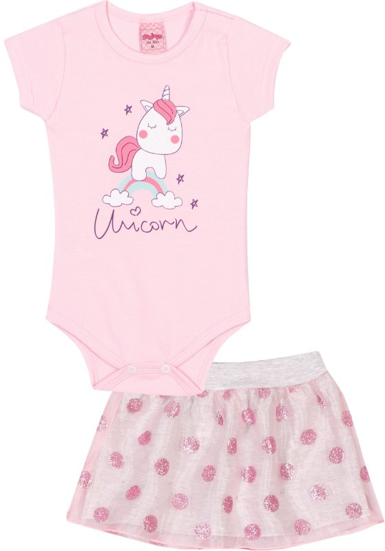Conjunto Body Unicorn Pétala - Serelepe Kids