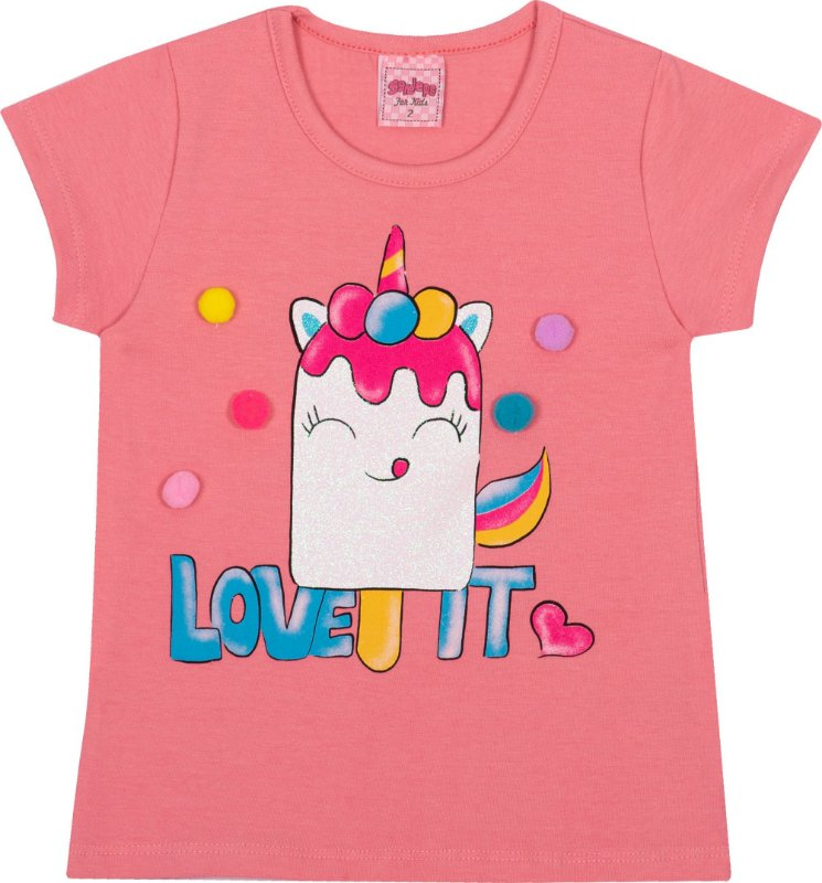 Blusa Avulsa Love It Florata - Serelepe Kids