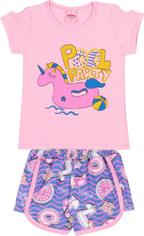 Conjunto Pool Party Bêgonia - Serelepe Kids
