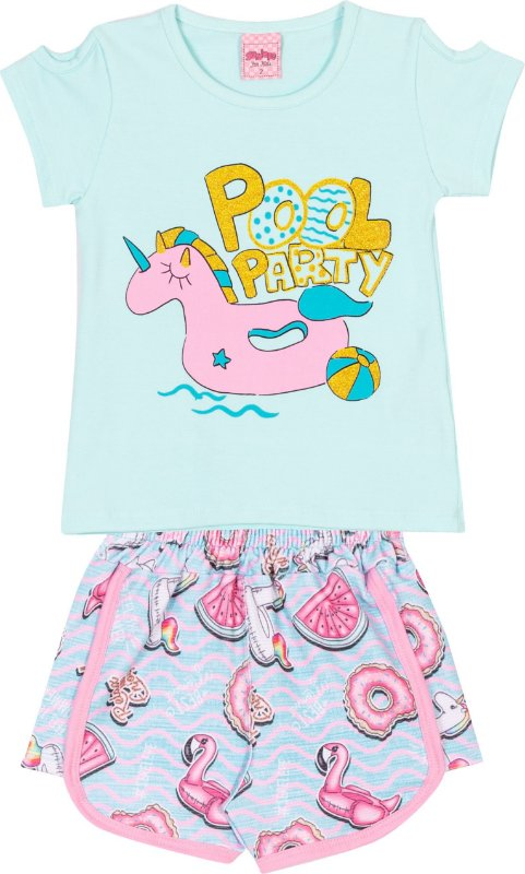 Conjunto Pool Party Aqua - Serelepe Kids