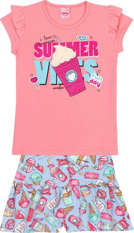 Conjunto Summer Vibes Florata  - Serelepe Kids
