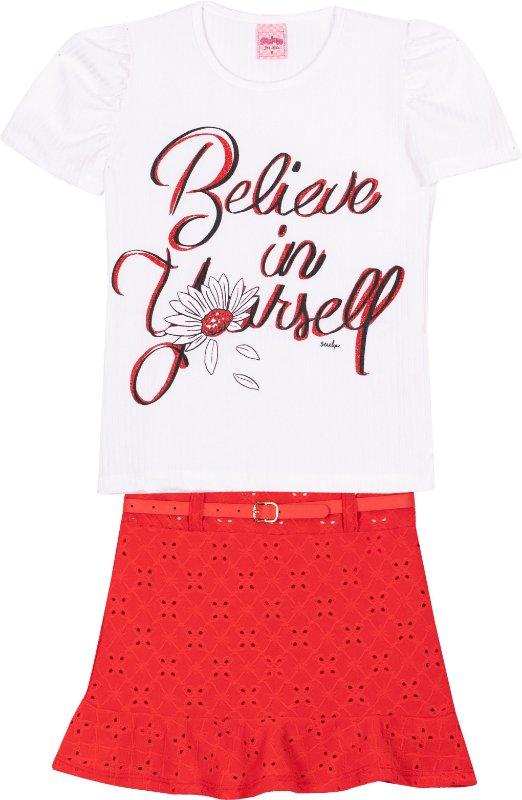 Conjunto Believe Branco - Serelepe Kids