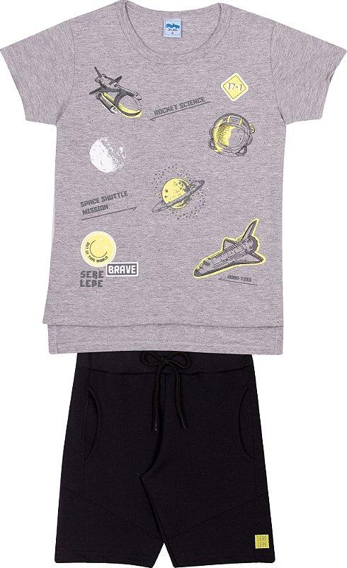Serelepe Kids - Conjunto Nave Espacial Mescla Escuro