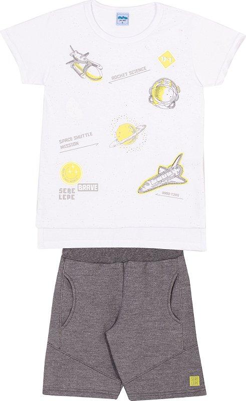 Serelepe Kids - Conjunto Nave Espacial Branco