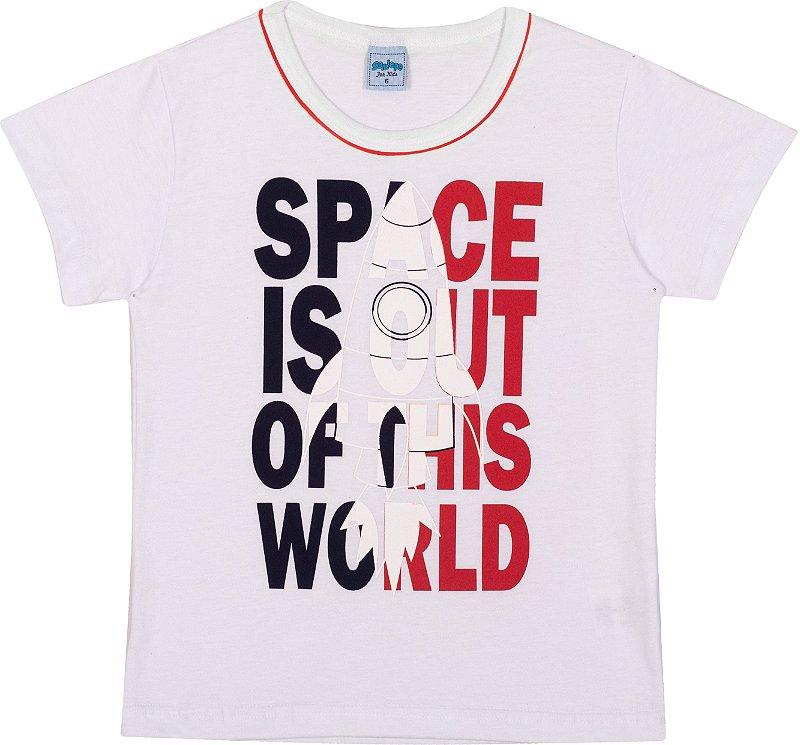 Serelepe Kids - Camiseta Avulsa Space Branco