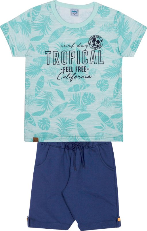 Serelepe Kids - Conjunto Tropical Aqua