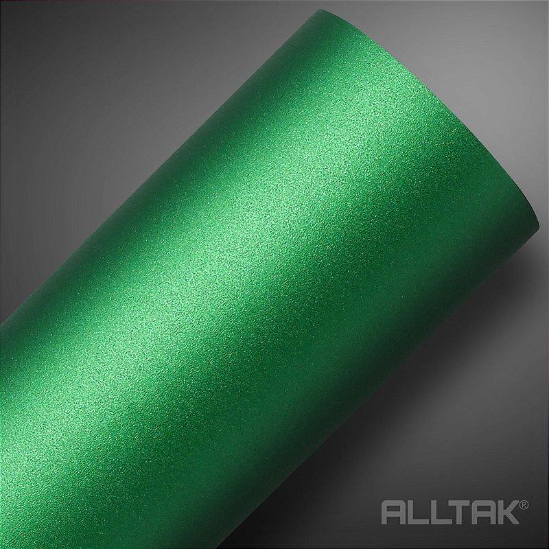VINIL ALLTAK JATEADO GREEN METALLIC 1,38MT X 1,00MT
