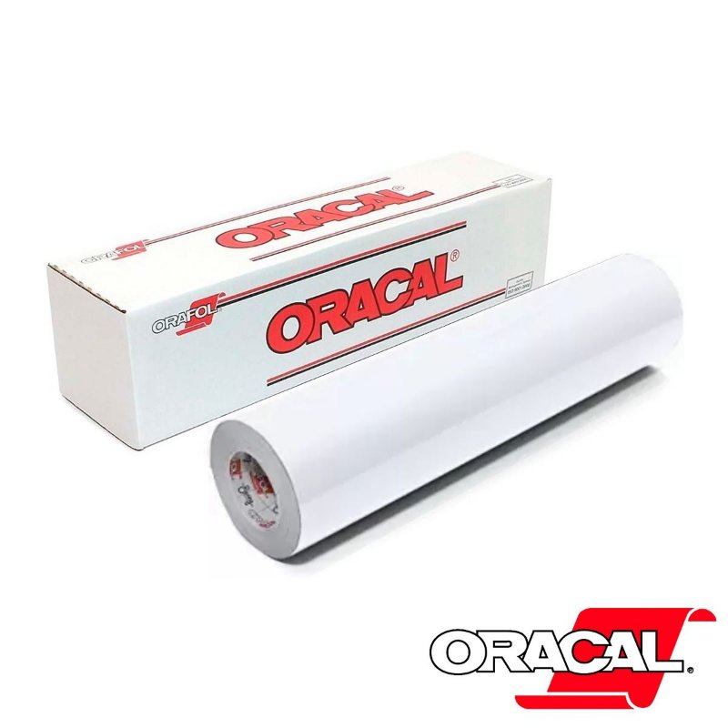 VINIL ORACAL 651 WHITE-BRANCO BRILHO 1,26MT X 1,00MT