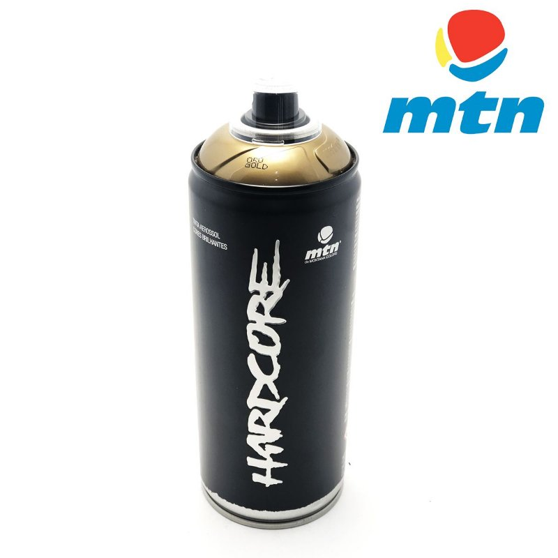 TINTA SPRAY MONTANA HARDCORE 400ml OURO