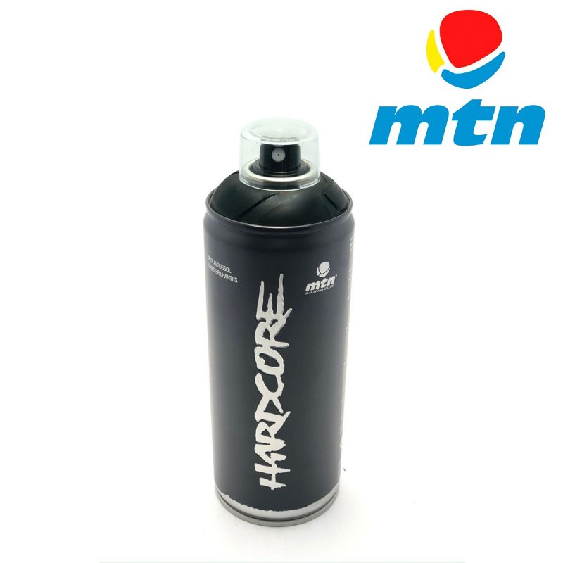 TINTA SPRAY MONTANA HARDCORE 400ml PRETO