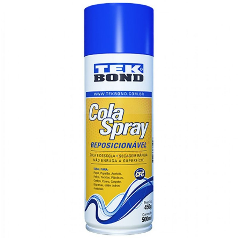 COLA SPRAY TEK BOND REPOSICIONÁVEL 500ml