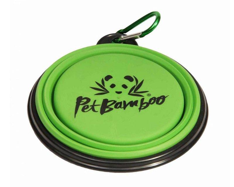 Bebedouro e Comedouro Para Cachorro Portátil de Silicone - Pequeno