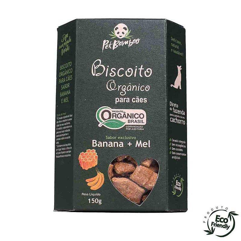 Biscoito Orgânico Para Cães - Sabor Banana & Mel