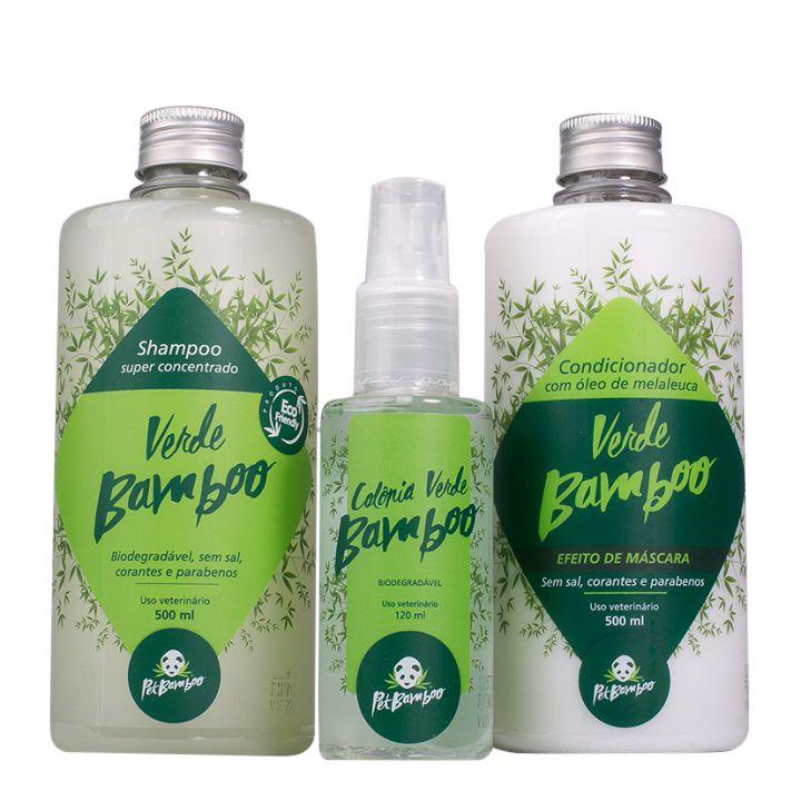 Kit 'Verde Bamboo' - Shampoo + Condicionador + Colônia