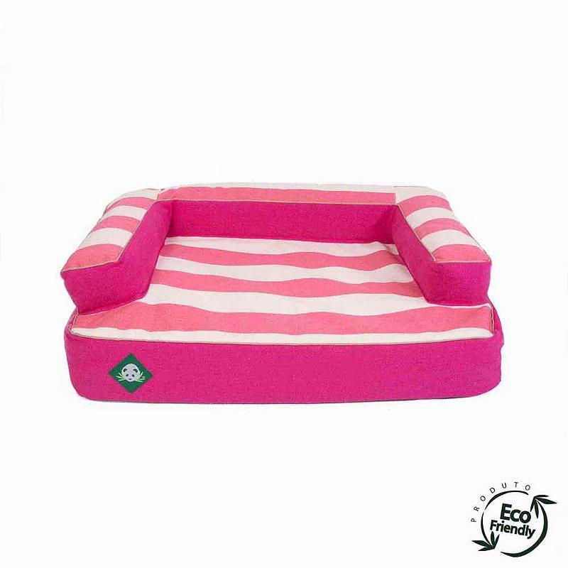 Cama Sofá Ecológico Para Cachorro - Rosa Chiclete