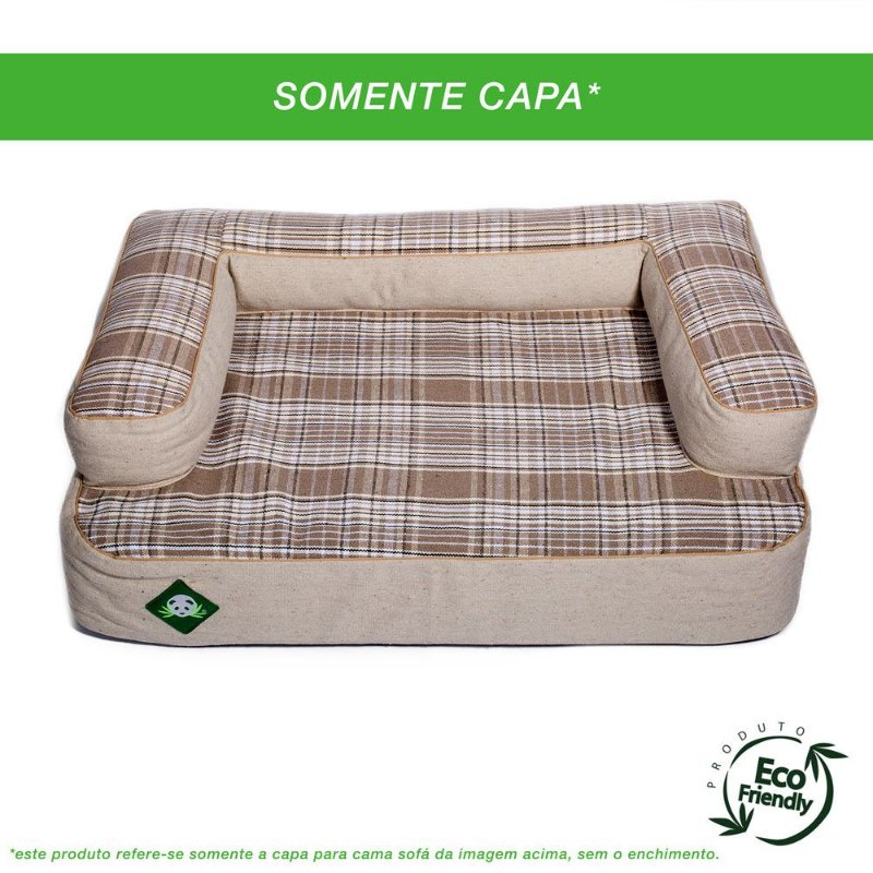 Capa Para Sofá - Xadrez Caqui