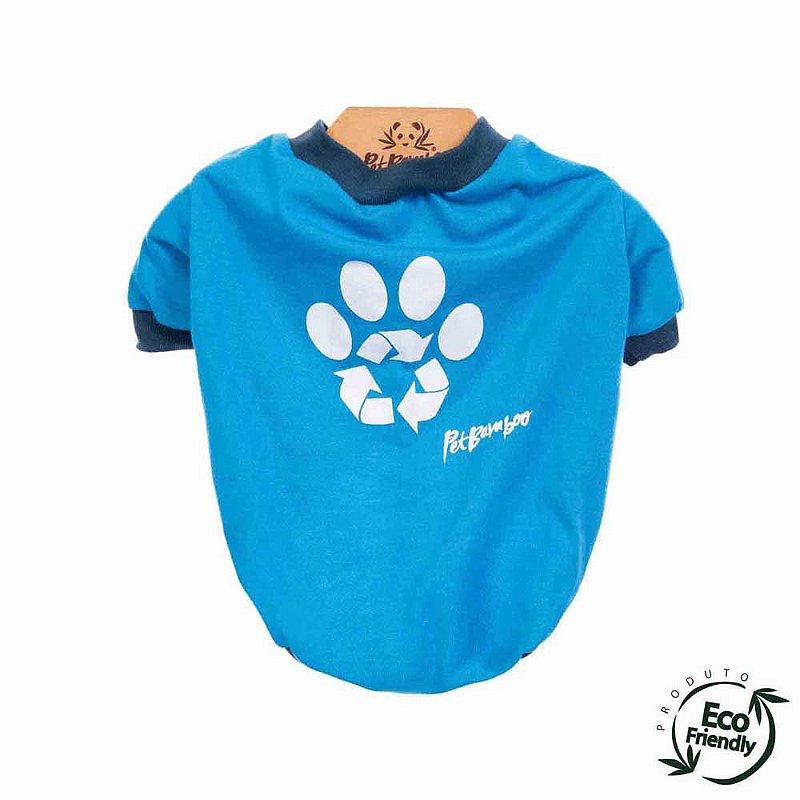 Camiseta Malha Ecológica Recicle - Azul