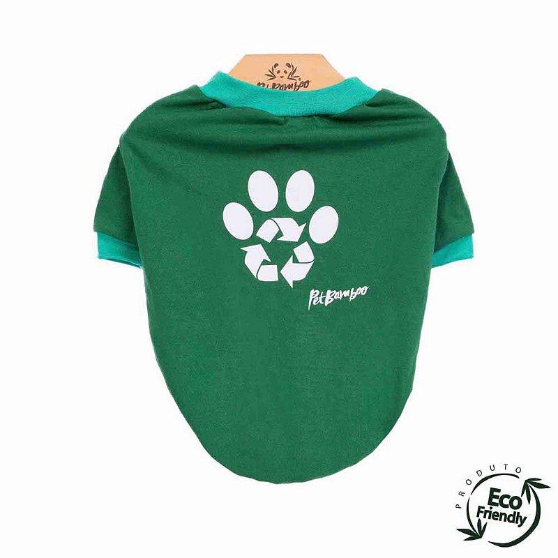Camiseta Malha Ecológica Recicle - Verde