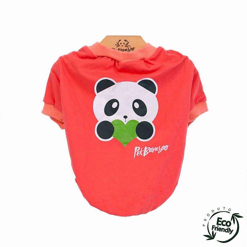 Camiseta Malha Ecológica - Coral