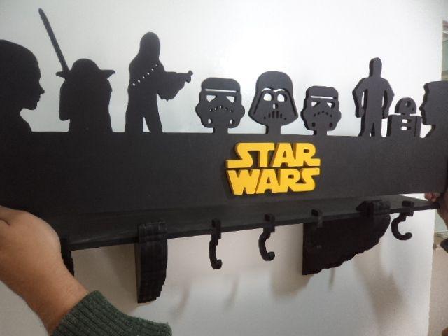 Prateleira E Cabideiro 3d Star Wars