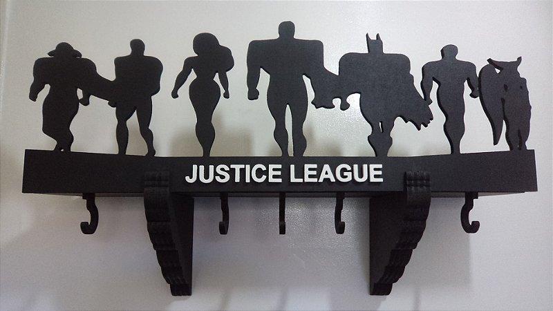 Prateleira E Cabideiro 3d Liga da Justiça