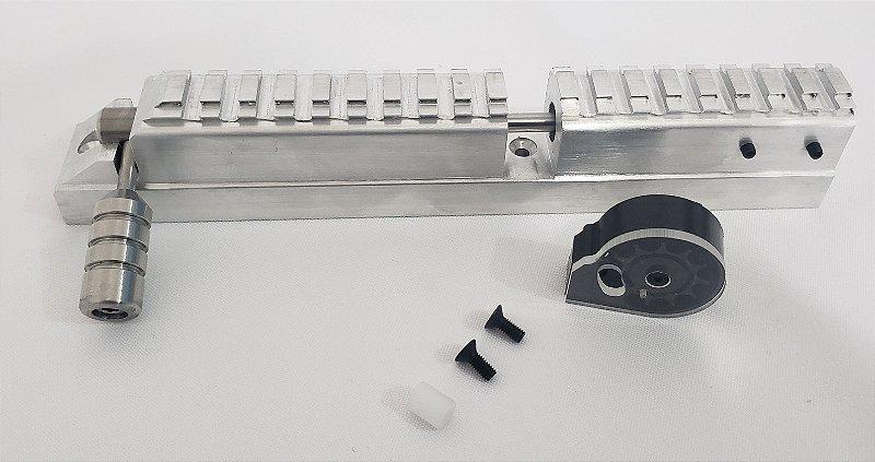 Castelo modelo ambidestro + magazine auto ciclável 10 tiros - 5.5mm