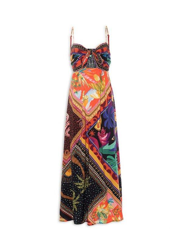 Vestido Farm Cropped Misturinha De Lenço