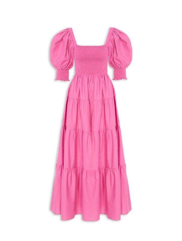 Vestido Farm Lastex - Rosa