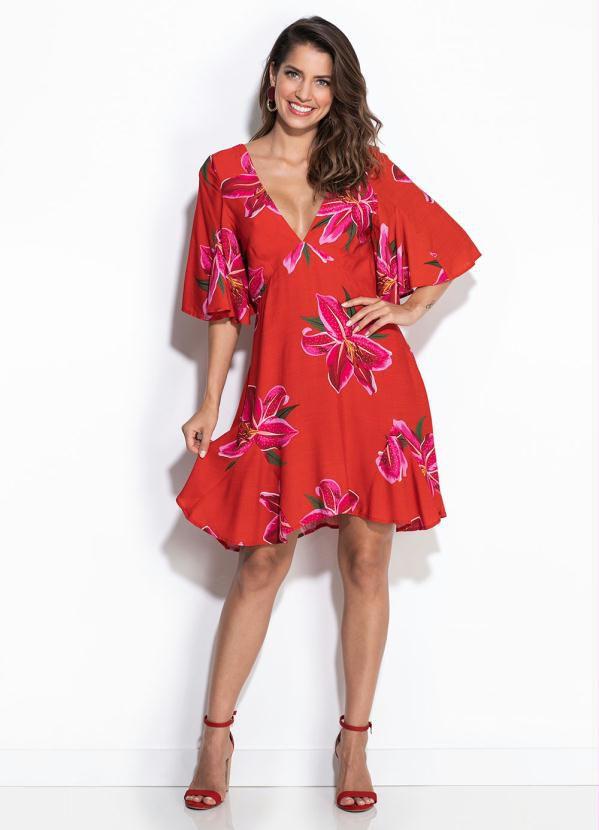 Vestido Farm Curto Floral Lirio - Hb03