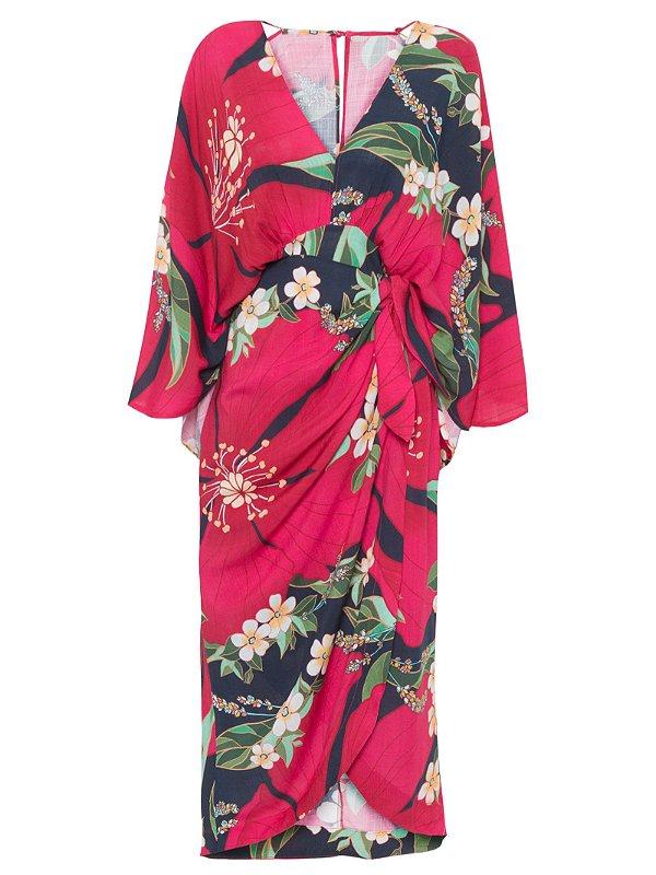Vestido Farm Traspasse Floral Pietra -hb03