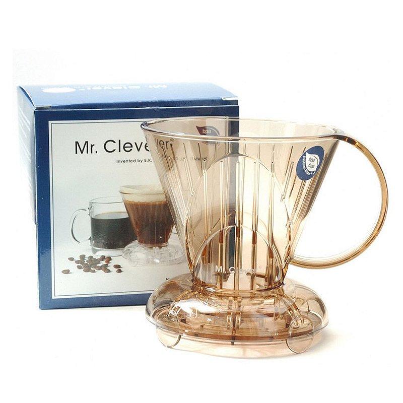 Clever Coffee Dripper Marrom 300ml e 100 filtros coador