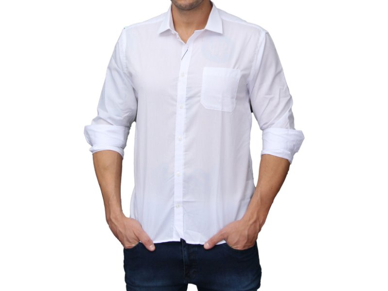 Camisa Social Branca classica