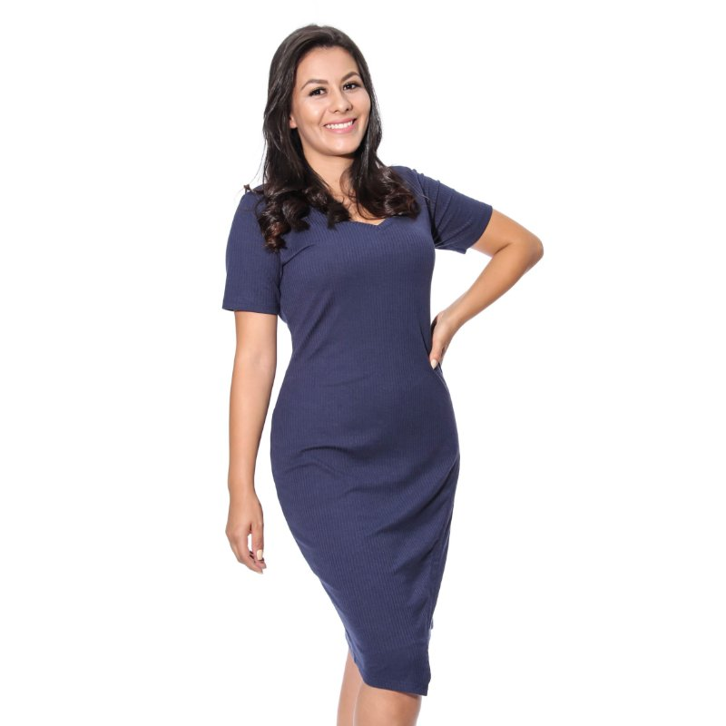 Vestido Canelado Premium
