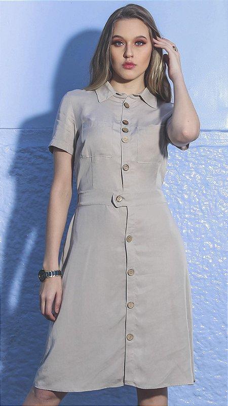 Vestido Evangélico Márcia Bege