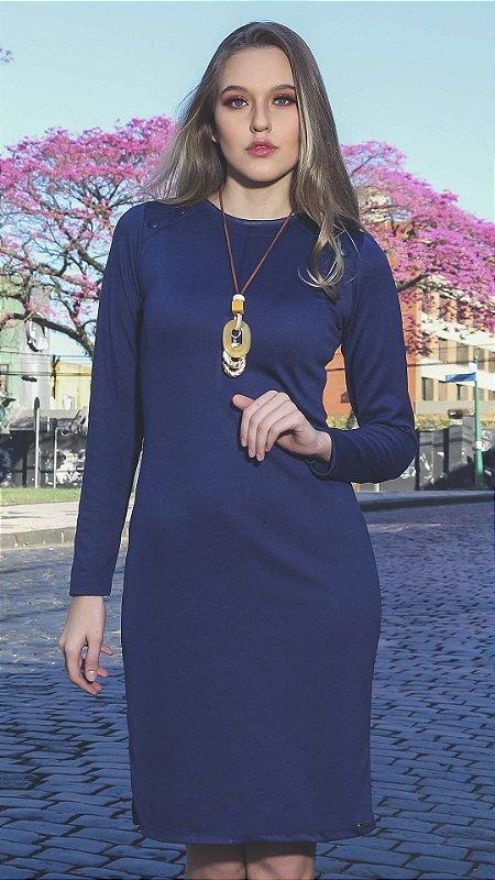 Vestido Evangélico Carolina Azul