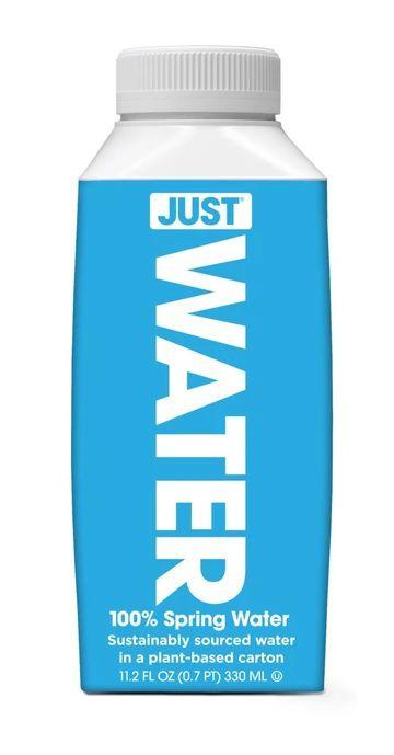 Caixa com 24 garrafas de água Alcalina pH8 Just Water - 330ml