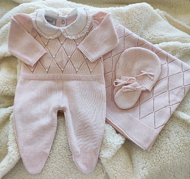 Saída Maternidade Tricot Feminina cód.9310S