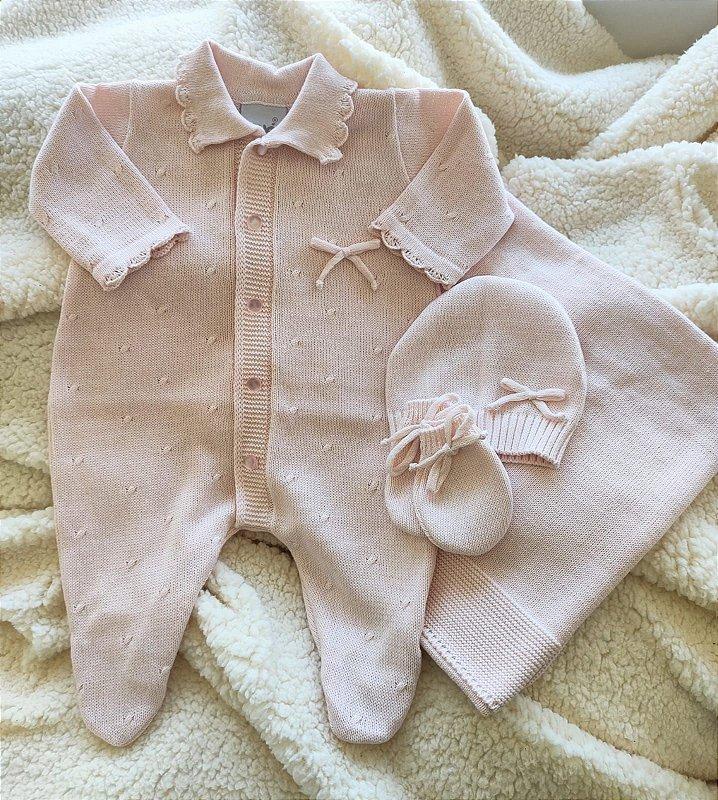 Saída Maternidade Tricot Feminina cód.8917S