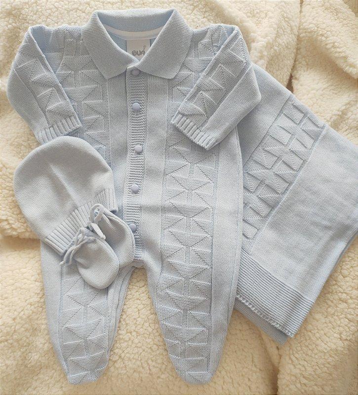 Saída Maternidade Tricot Masculina cód.9305S