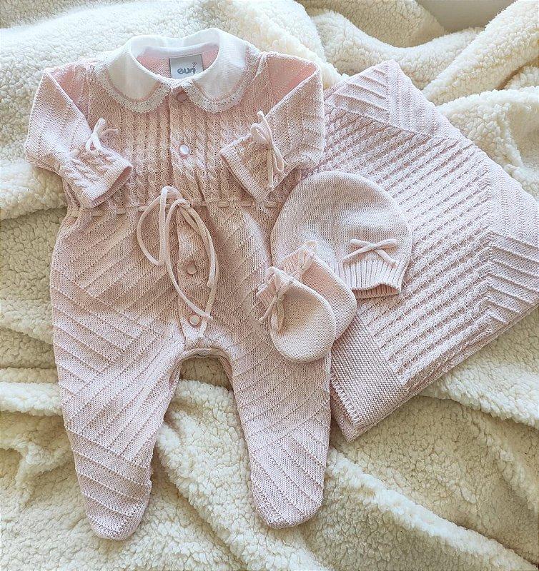 Saída Maternidade Tricot Feminina cód.8405S