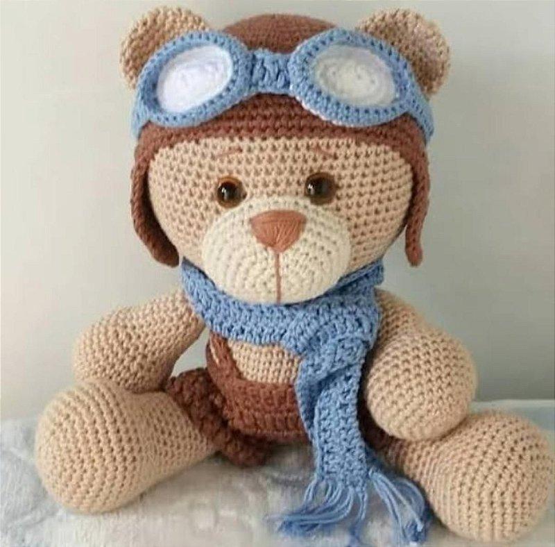 Boneco Amigurumi - Urso Aviador