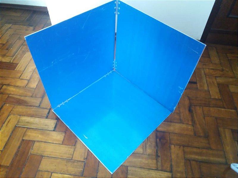 Fogão Solar SOLMEIODIA  Kûara MVP 050, dobrável e portátil em alumínio reflexivo