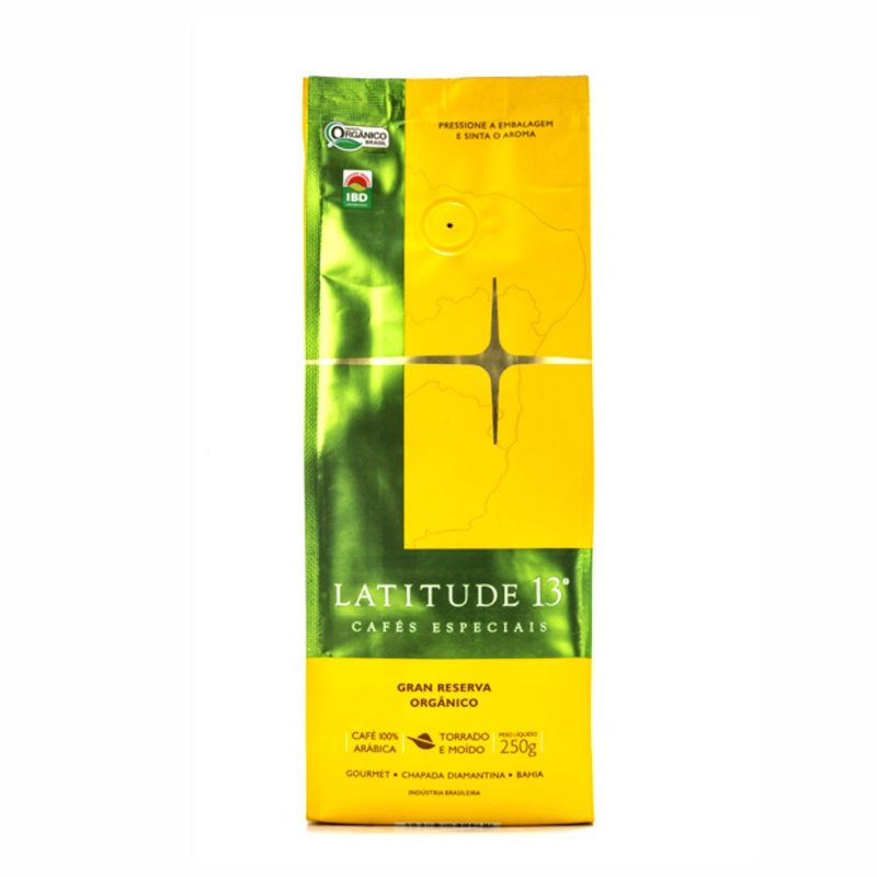 Café Latitude 13 Orgânico Gran Reserva - Torrado Moído (250g)