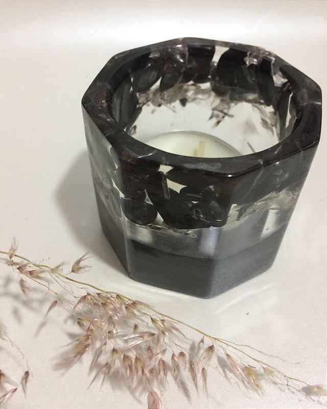 Cachepot para Velas - Turmalina Negra